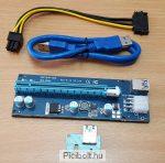 PCI-E 1X to 16X Riser Card PCI-E 6pin SATA V006C