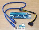 PCI-E 1X to 16X Riser Card PCI-E 6pin SATA V009S