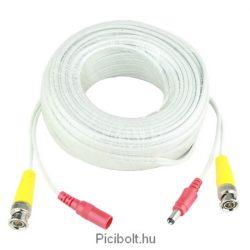 BNC + DC video és táp kábel 18m