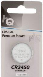 CR2450 Lítium gombelem 3V