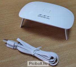 Mini UV LED lámpa műköröm, loca uv ragasztok 9W