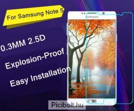 Edzett védő üveg 9H 0.3mm 2.5D hatás Samsung