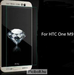 Edzett védő üveg 9H 0.3mm 2.5D hatás HTC One M9