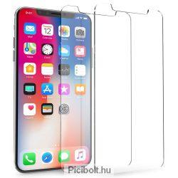 Edzett védő üveg 9H 0.3mm 2.5D hatás Apple Iphone X