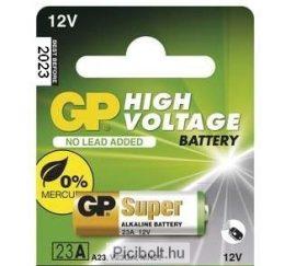 GP 23a alkáli 12V-os riasztó elem