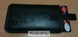 Pull Tab Leather Skin Pouch
