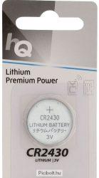 CR2430 Lítium gombelem 3V