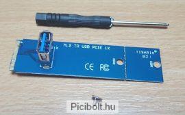 Riser Kártya Adapter NGFF M2 M.2 USB 3.0 PCI-E PCI Express