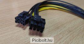 PCI Express tápkábel 8 pin anya > 2 x 8 pin apa 20 cm